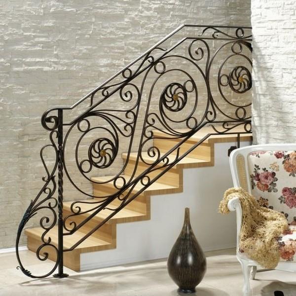 Stair Railing Floral Motif Wrought Iron Design Handrail;  12387884_1006562599408436_1163098968_n;  12387723_1006562612741768_1514896565_n